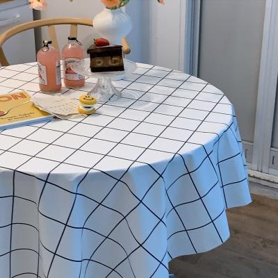 에블린 윈도우 체크 방수 식탁보 4인L