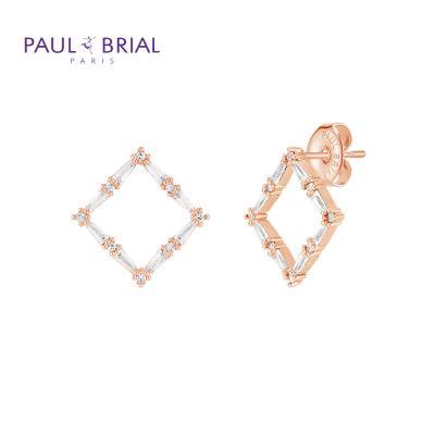 폴브리알 PYBE0098 (PG) 사각 큐빅 귀걸이 大