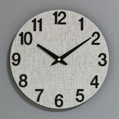 (kdrz078)저소음 우드그레이벽시계 300 BN