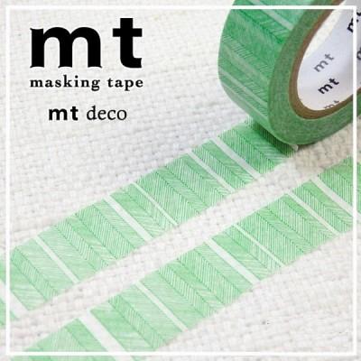 폭15mm-일본 mt 디자인 마스킹테이프 Deco series-나뭇잎 초록 hd203-d227