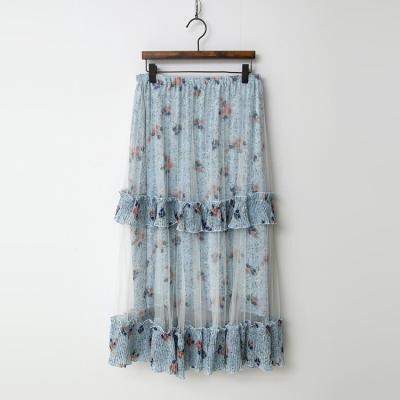 Flower Cancan Cha Long Skirt