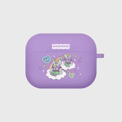 kkikki rainbow cloud-purple(Air pods pro case)