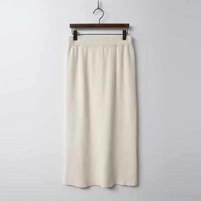 Simple Knit Long Skirt