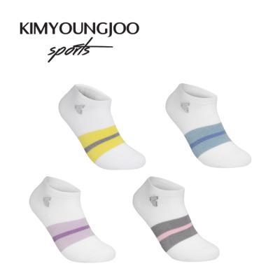 4in1 KYJ 로우컷 컬러밴딩 골프양말 세트 남녀 김영주