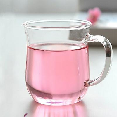 [로하티]커브라인 내열 유리컵/ 홈카페 손잡이 주스잔