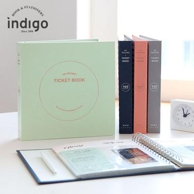 인디고 나의 기록 티켓북 스크랩북 티켓앨범 1개