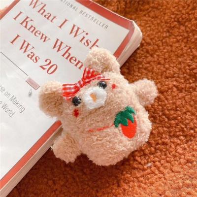 귀여운 복실 딸기 곰돌이 에어팟 1세대 2세대 케이스