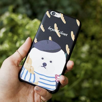 아이폰6 케이스 - 프랑스 도그 아티피셜 레더 블랙