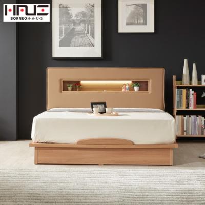 보루네오 하우스 라보떼 리나 LED조명 PU가죽 평상형 침대 LN006 Q (본넬스프링)