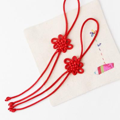 적색 매듭끈 (2개)