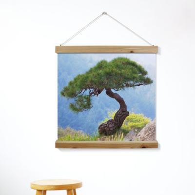 ah314-우드스크롤_60CmX60Cm-산정상의소나무