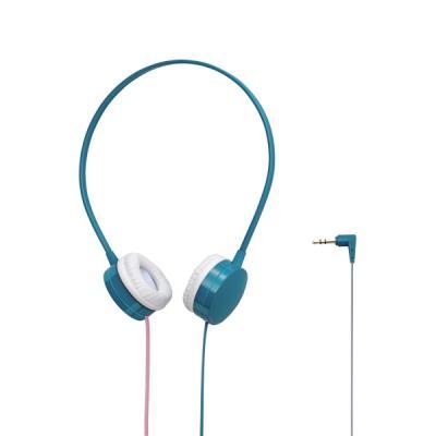 투톤 플랫 케이블 컬러 헤드폰 블루 EHP-OH200BU-G