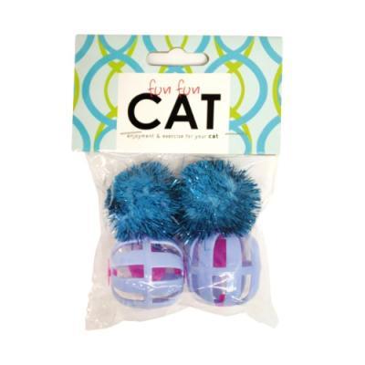 [펀펀캣] 고양이장난감 반짝 사운드볼 2P