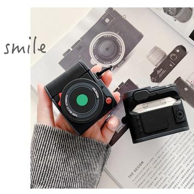 에어팟 1/2/3/프로 레트로 카메라 커플 실리콘 케이스