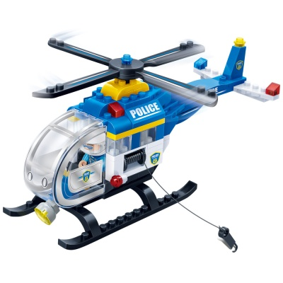 [3D퍼즐마을][반바오] BO7008 경찰 헬리콥터