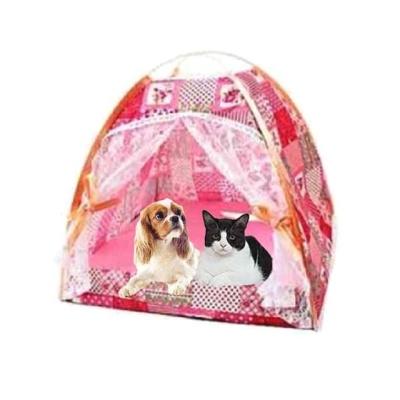 코지 플라워 반려동물 텐트하우스(대형 핑크)