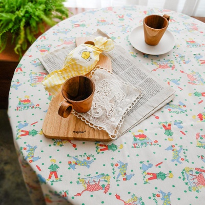 리틀 보이 빈티지 테이블 커버