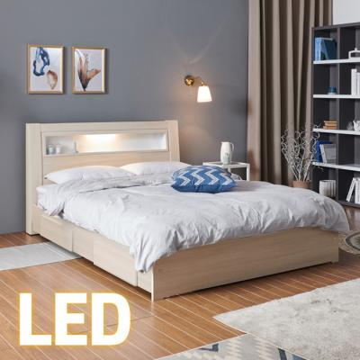 홈쇼핑 LED/서랍 침대 SS (양면스프링매트) KC201