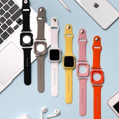 애플워치 비비드 실리콘 스트랩 케이스 세트 6color