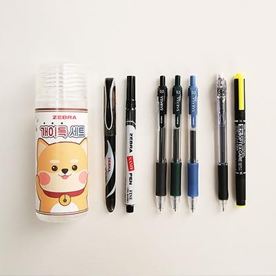 단독판매 제브라[원형케이스+7자루]개이득세트 (랜덤)