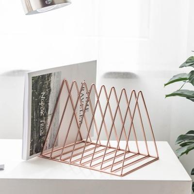 골드 삼각 책꽂이 잡지꽂이 매거진랙
