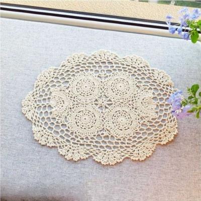 레이스 꽃모양 타원형 식탁 테이블 매트 선택 꽃4개