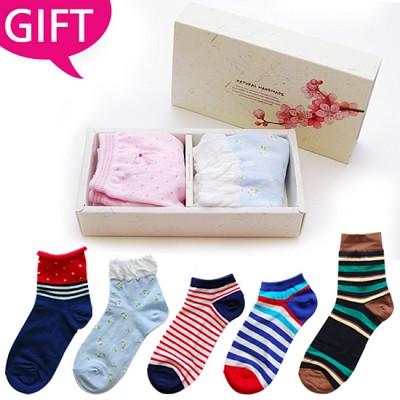 [GIFT] 패션양말 남녀 2종 선물세트 *고급스러운 선물 포장*