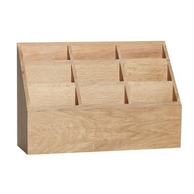 [Hubsch]Box w/9 compartments, oak, nature 889029 정리박스