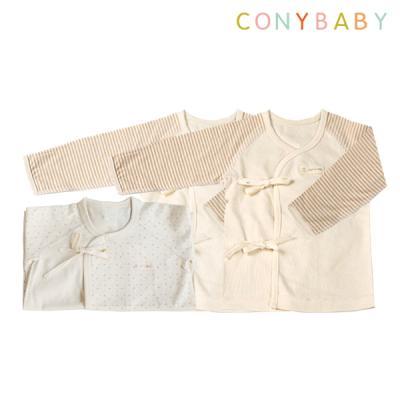 [CONY]출산3종세트(블루배냇가운+배냇저고리2개)