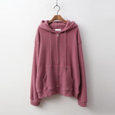 Gimo Hood Knit Zip-Up Sweatshirt - 안감기모