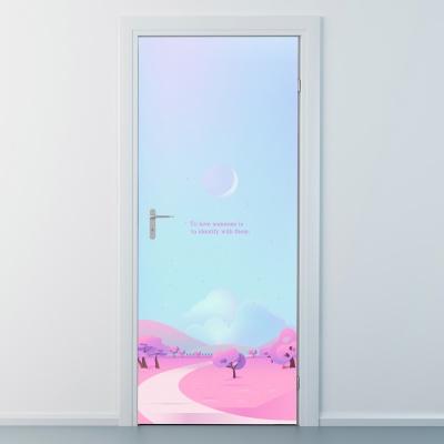 nces247-핑크로드-현관문시트지