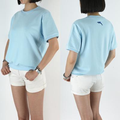 [19B5] 반팔 맨투맨 티셔츠 (남녀공용) -DOLPHIN BLUE