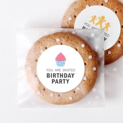 파스텔 생일답례 원형 라벨 (10개)