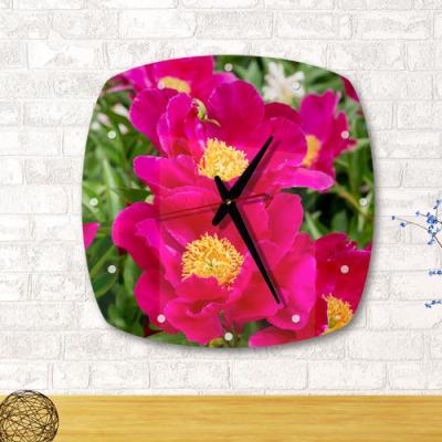 ga027-아크릴시계_풍수붉은빛모란꽃02