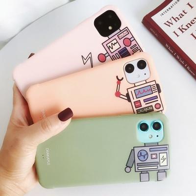 아이폰11pro max/프로 로봇 파스텔컬러/풀커버케이스