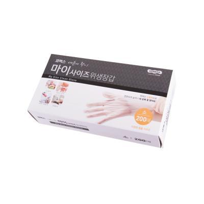 코멕스 마이사이즈 일회용 비닐 위생장갑(소) 200매