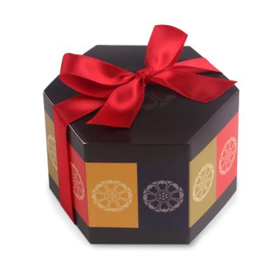 전통문양 육각 상자 소 (2개)