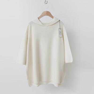 Maille Cashmere Wool Hood Sweater - 7부소매