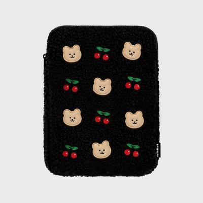 Dot cherry covy-black(아이패드 양털파우치)