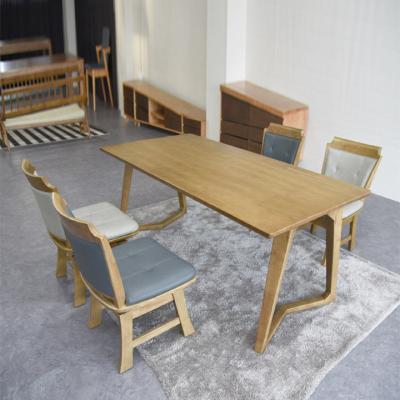 N4116 4인 원목 식탁 세트(의자형) 2colors