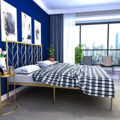 아파트32 홈 골드 철제 리브 침대 프레임/ 슈퍼싱글