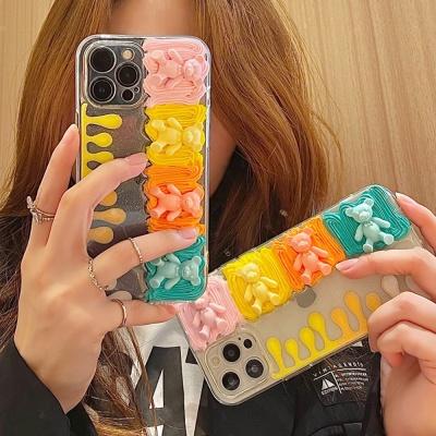 아이폰12 11 pro max xs 8 컬러 곰돌이 데코덴 케이스
