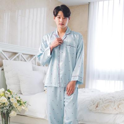[쿠비카]애플 프린팅 DTY 샤무즈 남성잠옷 M049