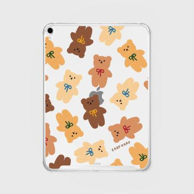 Dot ribbon bear(아이패드-투명)