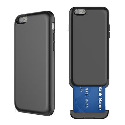 아이폰6/6s 카드슬롯 프로텍션 케이스 - 매트블랙