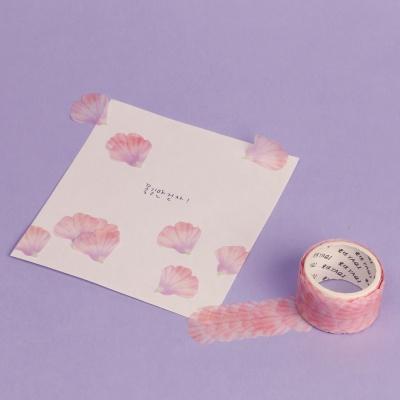 꽃잎 마스킹테이프 접시꽃