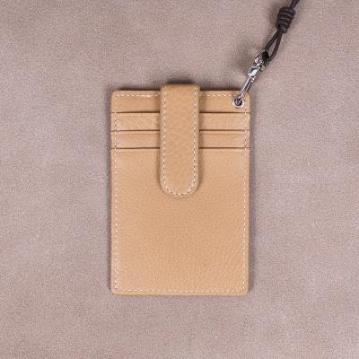 [이니셜무료] 이태리 슈렁큰 목걸이카드지갑 (네츄럴)