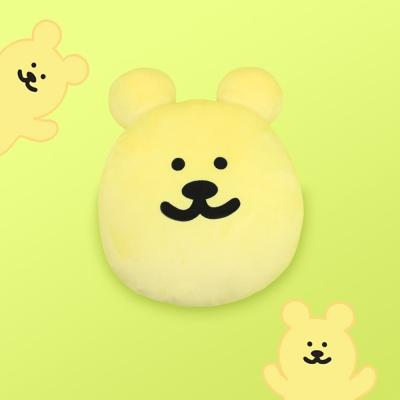 [한톨상점]반곰이 얼굴 쿠션(옐로)