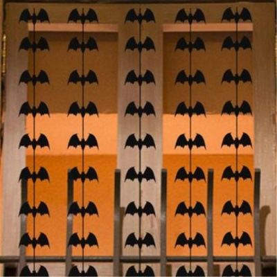 할로윈 창문장식 펠트재질 박쥐가랜드 이벤트용품