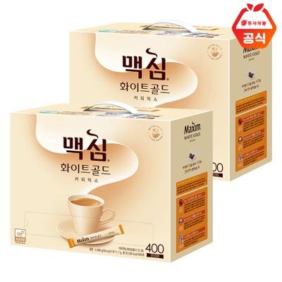맥심 화이트골드 400T 2개 / 대용량 커피믹스